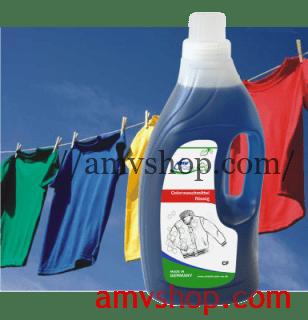 Жидкий концентрат для стирки цветного и белого белья.