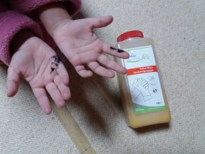 Нежное и бережное очищение кожи детских рук