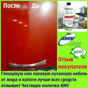 Вимити глянсову і лакову кухонні меблі від жиру допомагає чистяче молочко AMV [відгук покупця]