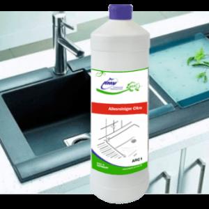 Универсальный ЭКО-очиститель AMV с запахом цитруса, 250 мл = 1250 мл. Концентрат 1:4 (пробник)