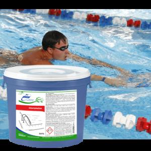 Таблетки с хлором для дезинфекции воды в бассейнах - 5 кг (25 таблеток)