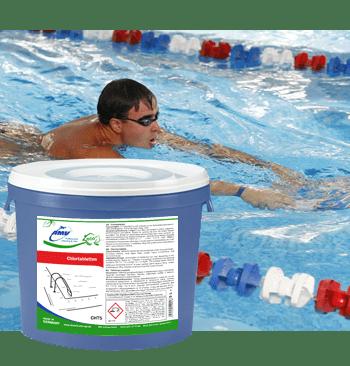 Таблетки з хлором для дезінфекції води в басейнах - 5 кг (25 таблеток)