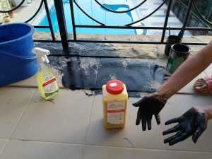 Очищающий гель для рук AMV - 1 Л