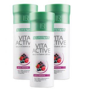 Вітаміни Vita Activ з екстрактів 21 виду овочів і фруктів. Набір з 3-х штук