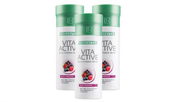 Витамины Vita Activ из экстрактов 21 вида овощей и фруктов. Набор из 3-х штук